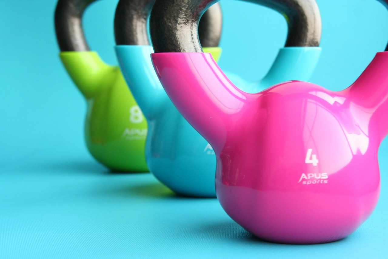 set of kettlebell weights