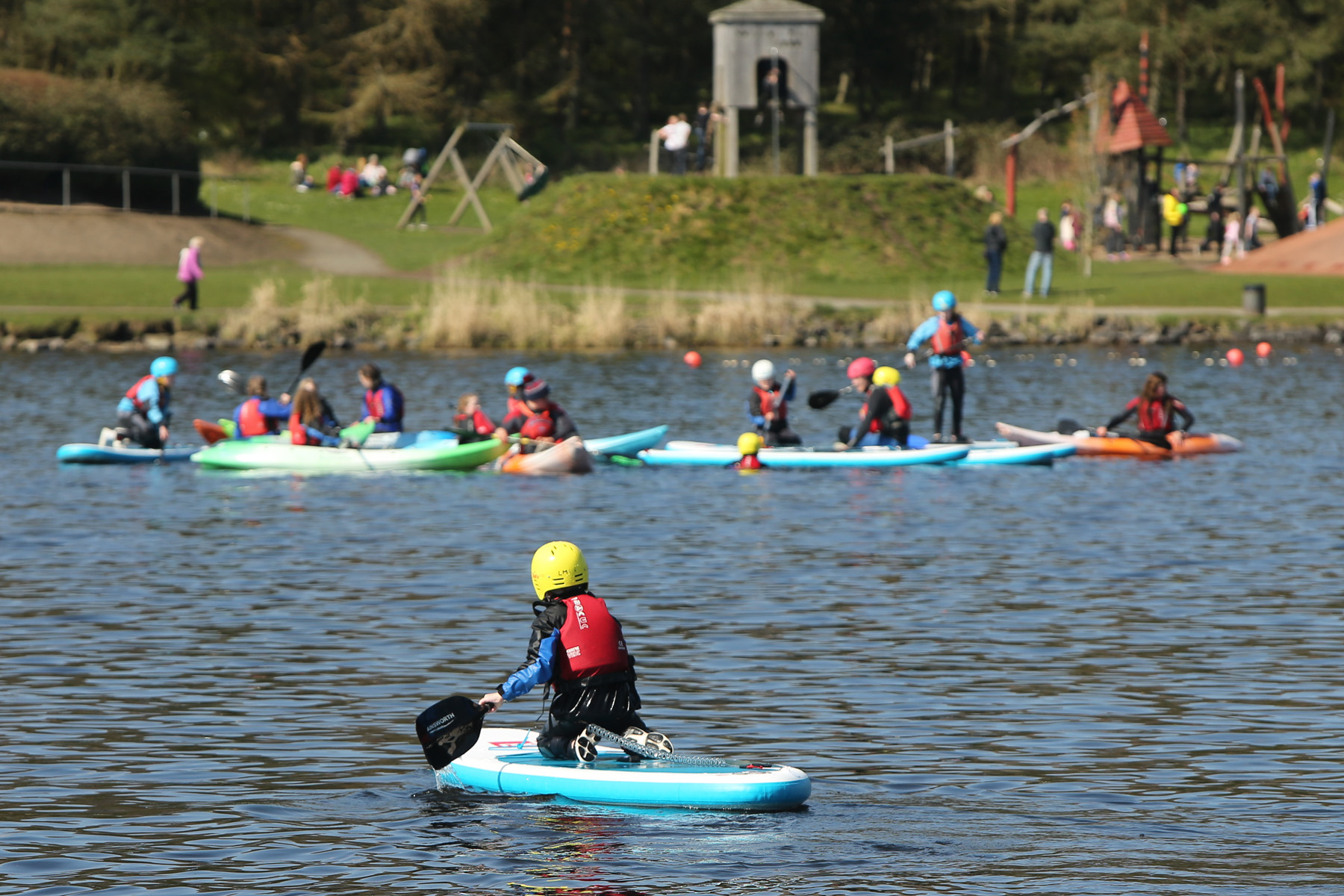 water activities at Lochore Meadows